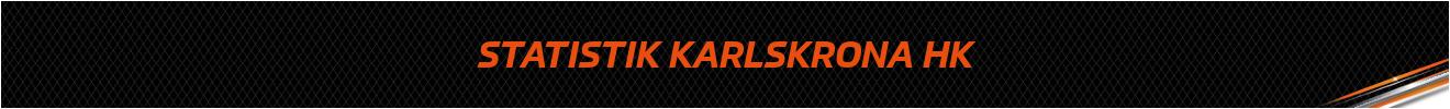 Statistik Karlskrona HK 2017/2018