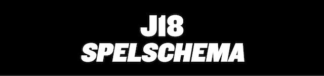 Spelschema J18