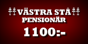 Västra stå pensionär 1100kr