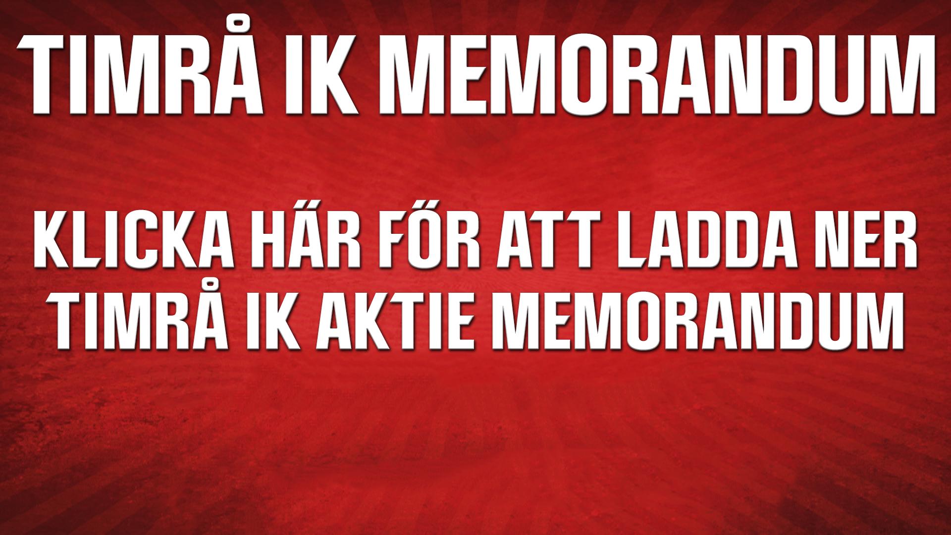 Timrå IK Memorandum