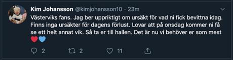 kim johansson på twitter