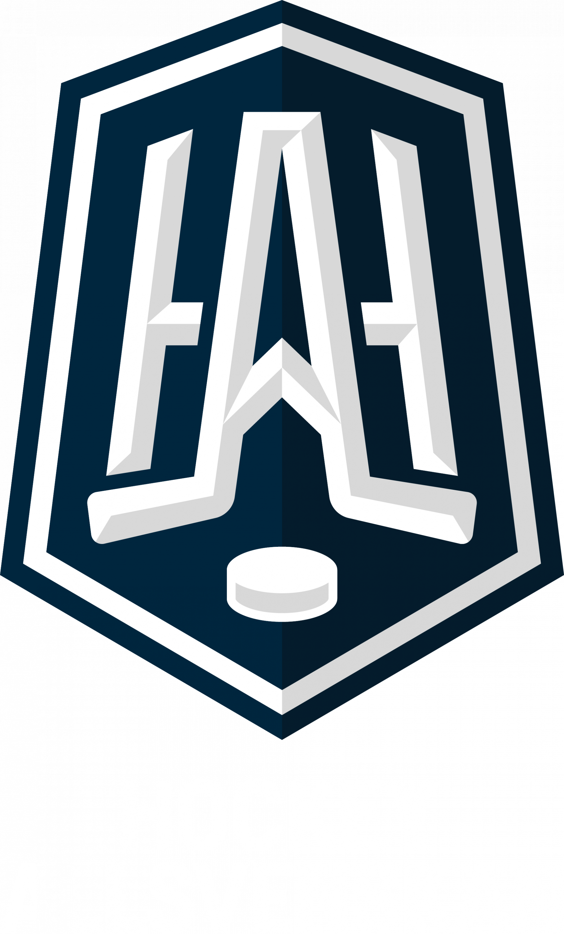 Logotype med vit text